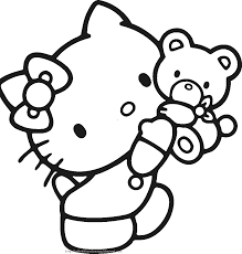 Awesome Hello Kitty Coloring Page 73 For Your Free Colouring Pages ...