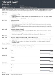 Best Software To Design Resume Software Engineer Developer Resume Examples Format