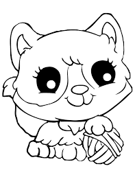 Adorable Coloring Pages For Girls Cats Animal Coloring Pages Of