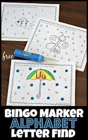 For example if she picks up a robot, she can describe its color, how many hands it has, etc. Alphabet Bingo Dauber Worksheets