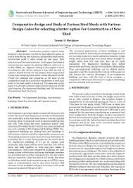 Peb Structure Design Procedure Irjet Comparative Design And Study Of Various Steel Sheds