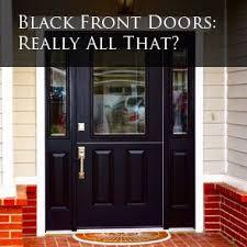 black fibergl entry door
