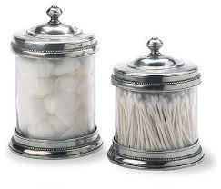 Bathroom Canister Set Best Pewter And Glass Canisters By Match Of Italy Eclectic Bathroom
