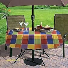 outdoor round tablecloth with umbrella hole table ideas