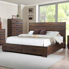 Crown Mark Cranston Queen Low-Profile Bed with Footboard Storage ...