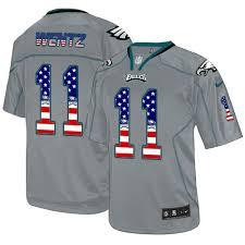 Jersey Philadelphia Flag Men's Carson Football Usa Elite Eagles Fashion 11 Cheap Wentz Grey -