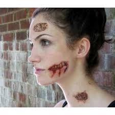 easy zombie makeup tattoo
