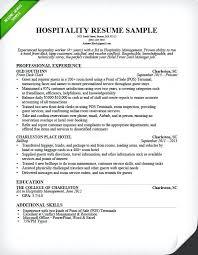 Sample Resume For Hotel Jobs Hospitality Front Desk Clerk Resume