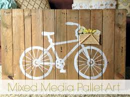 Pallet Art Diy Mixed Media Pallet Art Home Made Modern