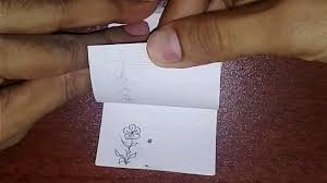 how to make a quick easy flipbook flip book drawing of a flower drawing