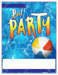 Discover wonderful themes spanning blank wedding invitations, blank birthday invitations, blank baby shower invitations, blank party invitations, blank pool party invitations, and many more. A Blank Pool Party Invitation Template Royalty Free Cliparts Vectors And Stock Illustration Image 60812806