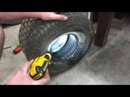 Lawn Mower Tire Tube Size Chart How To Install Tube In Lawn Mower Tire Youtube