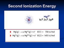 18 second ionization energy