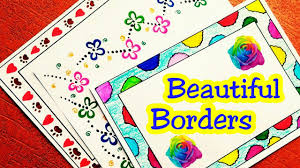 Border Designs On Paper School Project File Decoration