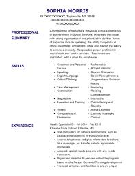 Best Social Work Internship Resumes Resumehelp