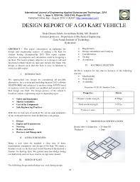 Pdf Design Report Of A Go Kart Vehicle