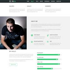 psd portfolio and resume website templates colorlib focal resume portfolio psd template