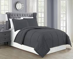 charcoal grey bedding. Beautiful Charcoal Amazoncom Mk Collection Down Alternative Comforter Set 3pc King Solid  CharcoalDark Grey New Home U0026 Kitchen In Charcoal Bedding Amazoncom