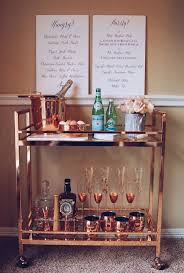 Rose Gold Bar Cart / Copper Bar Cart / Bar Cart Styling / Bar Cart Tools /  Grace and Merriment - Stylish Home Decorating Designs - Stylish Home  Decorating ...