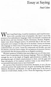 poetry essay broken english poetry and partiality modernist poetry  broken english poetry and partiality modernist poetry essay at saying paul celan