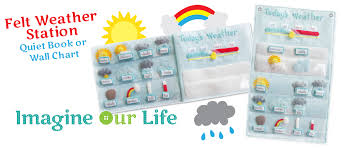 felt weather station pattern free 3 part cards