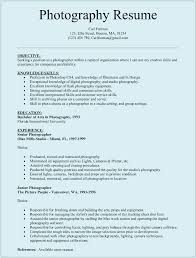 Photographer Resume Template For Microsoft Word Doc
