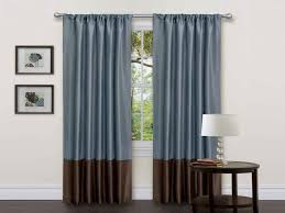 Bedroom Curtain Rod Decoration White Curtains With Navy Blue Design Interior Ideas For