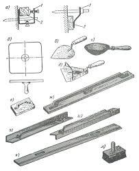 Отчет Ручной инструмент для производства штукатурных работ а инвентарные маяки б штукатурный сокол в лопатка штукатурная г ковш д ковш штукатурный