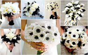 black and white wedding bouquets ideas, images 2017 Wedding Bouquets Black And White black and white wedding bouquets black and white silk wedding bouquets