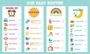 Kids Daily Routine Chart Pin By Amanda Brzoska On Task Charts Toddler Routine