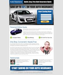 previous next quick easy free auto insurance quotes effective and conversion oriented landing page design