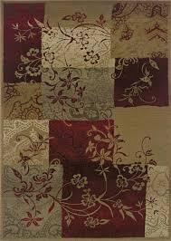 genesis red geometric rug 080x1