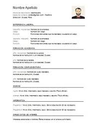 Modelo De Curriculum Vitae En Word Curriculum Vitae Para Rome Fontanacountryinn Com
