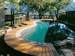 Backyard Designs With Pool Interesting 48 Pools And Decks To Die For DIY