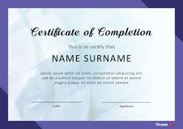 Certificate Of Completeion 40 Fantastic Certificate Of Completion Templates Word