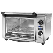 black decker 6 slice digital convection countertop oven toaster oven stainless steel tod3300ss