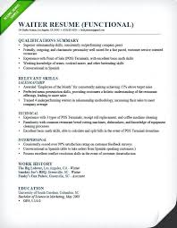 Resume Objective Adorable Food Server Resume Objective Examples Samples Waiter Functional