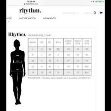 Rhythm Swim Size Chart Rhythm Livin Bralette Cloud Bikini Top Size Medium Nwt
