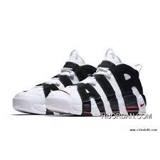 White Black Varsity Red Nike Air More Uptempo Latest