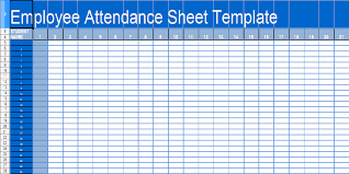 attendance spreadsheet excel employee attendance sheet format in excel free download military