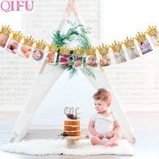 1st birthday banner qifu first birthday banner garlands one year old baby shower boy 1st
