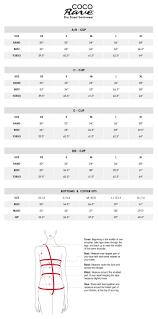 Swimwear Size Chart Size Chart Coco Rave