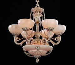 9 lights alabaster chandelier