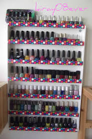 DIY Nail Polish Wall Rack that could use for craft paints