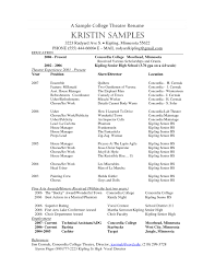 Transform Musical theatre Resume Example Also High School theatre Resume  Image Gallery Hcpr