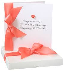 Bedazzled Anniversary Card Made With Swarovski Crystals By Made With