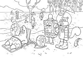 Small Picture Spongebob Squarepants Coloring Pages for Kids Free Printable