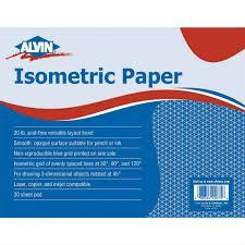 """Alvin 11"""" X 17"""" Isometric Paper #1242-2"""