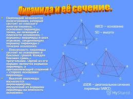Презентация на тему Реферат по геометрии на тему Автор  4 Пирамидой называется многогранник