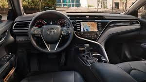 2018 camry. Simple Camry Interior Of The 2018 Camry In Black Leather Trim With